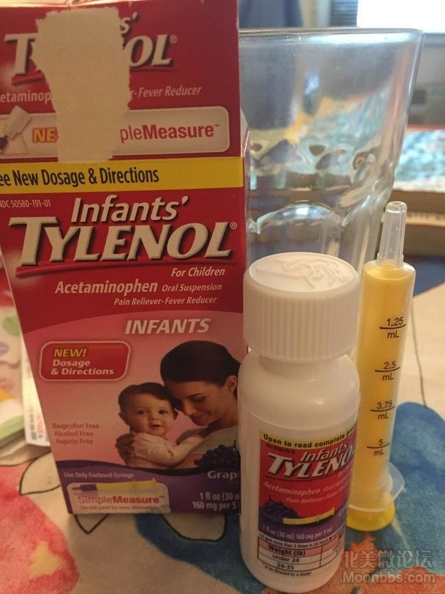 infants' tylenol 葡萄味的,里面有针管,给宝宝吃起来也比较容易接受