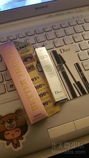 全新too faced正装睫毛膏和dior15ml的小样·
