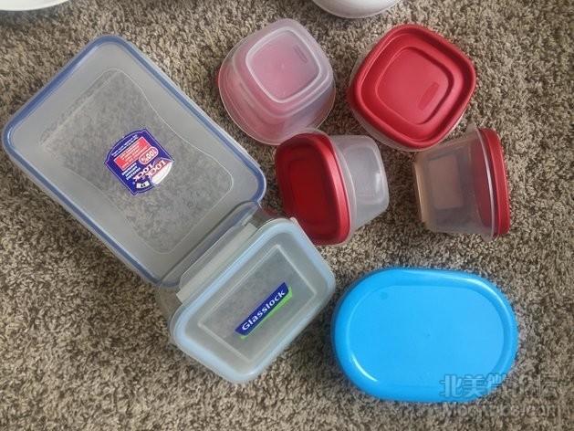 饭盒一元每个 玻璃的3元