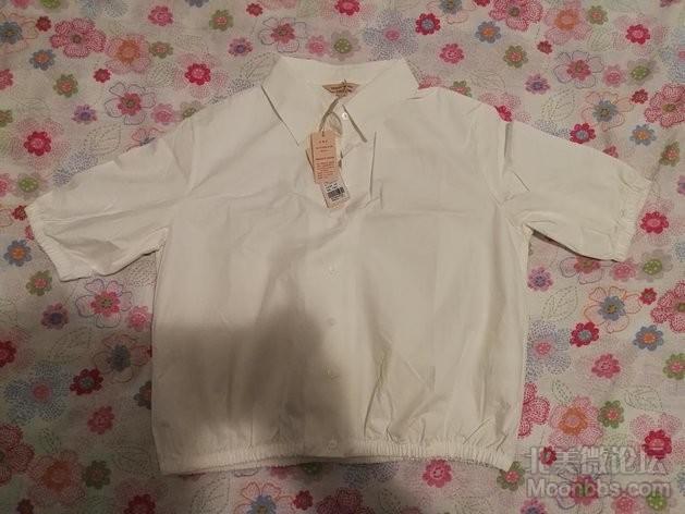 小清新纯白色衬衣,size165,M.jpg