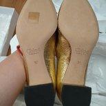 Chloe金色花瓣鞋