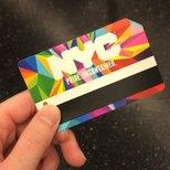 NYC rainbow metrocard
