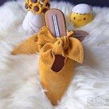 【经验】Zara打折买了啥~黄颜色蝴蝶结鞋子带回家