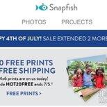 snapfish免费打印20张照片,免邮