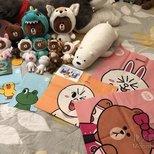 Line Friends 布朗熊全家福