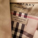 终于买到了burberry kensington风衣