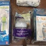 7月亚马逊baby welcome box 超级豪华啊,送了3个奶瓶!