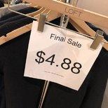 Loft $4.88的开衫(原价59),来两色! 更新上身图