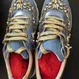 晒一双RC的sneaker牛仔钻鞋
