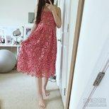 #经验# chuu 貌似蕾丝的连衣裙+choker