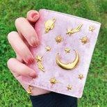 小ck粉色星月卡包
