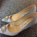 我的jimmy choo水晶鞋