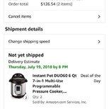 $58.99 6夸脱 的instant pot终于下单成功