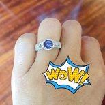 晒晒跑去非洲淘的坦桑蓝戒指