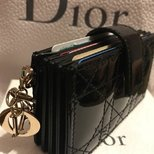 Lady Dior gusseted card holder