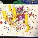 晒个1岁半小侄女的画