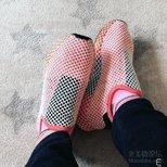 终于都买到喜欢的粉红网鞋