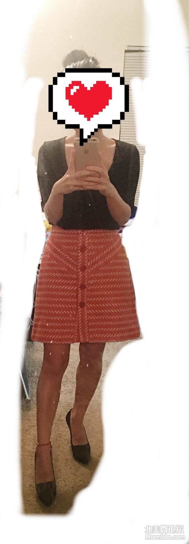 Maje半裙上身图