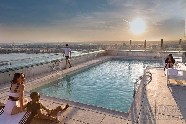 天台游泳池