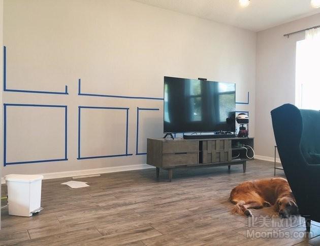 【DIY】墨绿电视背景墙Accent Wall