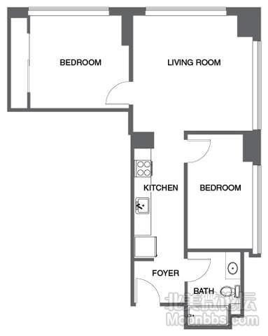 左边稍大的房间是出租的房间