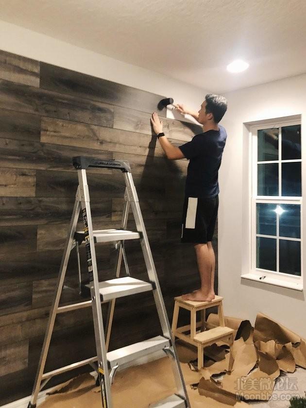 【DIY】Ins风地板背景墙-Accent Wall