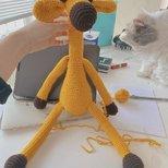 手残党第一次自己织娃娃