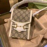 Gucci 1955白色老花手机包